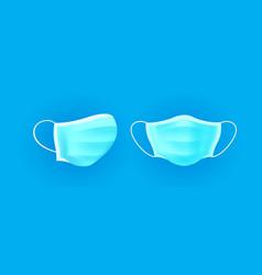 safety breathing protection medicine mask set vector image