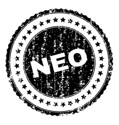 Scratched textured neo stamp seal vector