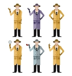 Set of Detectives2 vector image