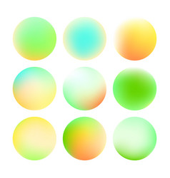 Set of round soft color gradient vector
