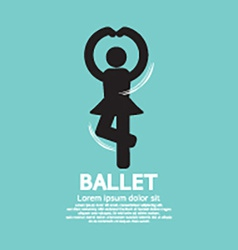 Single Ballet Graphic Black Symbol vector