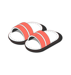 Slippers for sauna composition vector