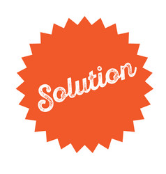 Solution stamp on white vector