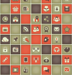 Square pattern social networking in red gray vector