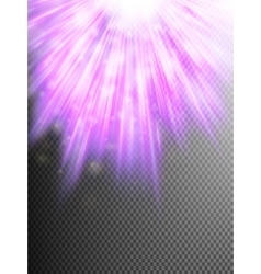 Star light with rays background EPS 10 vector image