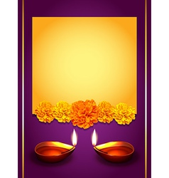 stylish diwali greeting vector image