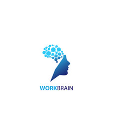 symbol of human head work brain logo vector image