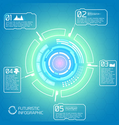 Touchscreen interface infographic concept vector