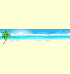 Tropical sandy beach and ocean vector