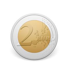 Two euro coin vector
