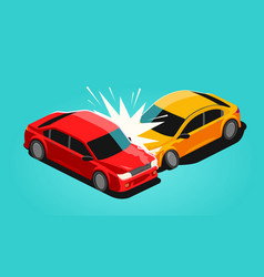 vehicle accident car insurance transport vector image
