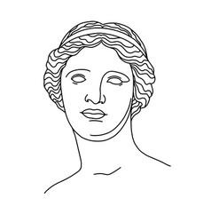Venus de milo s head 4 vector