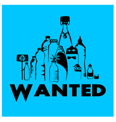 Wanted plastic vector