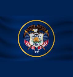 Waving flag utah vector
