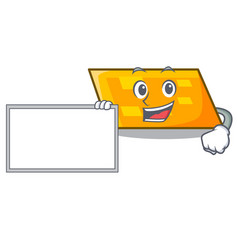 with board parallelogram character cartoon style vector image