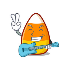 With guitar candy corn in a mascot jar vector