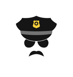 policeman avatar police officer icon vector image