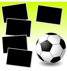 soccer photo adventure vector image