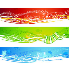 Three music banners vector image