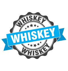 whiskey stamp sign seal vector image vector image