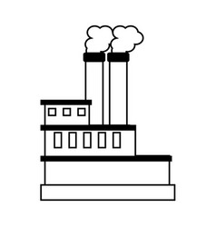 factory cartoon silhouette vector image vector image