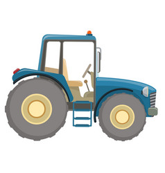 farm tractor flat icon vector image