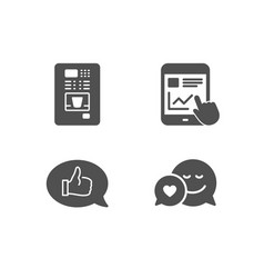Internet report feedback and coffee vending icons vector