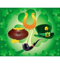 items to St Patrick's day vector image vector image