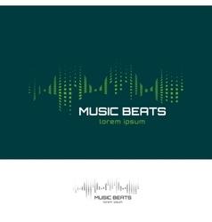 Music beats logo vector image