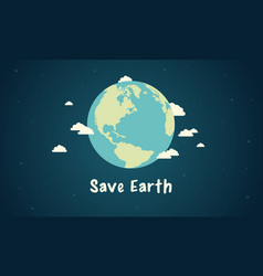 save earth design style vector image