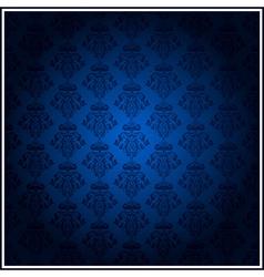 vintage blue wallpaper vector image