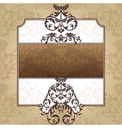 abstract royal ornate vintage frame vector image vector image