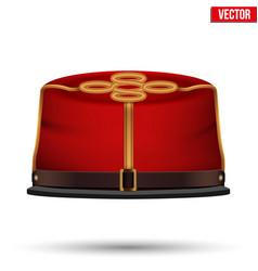 american civil war confederate cavalry hat vector image