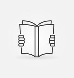 reading a book concept icon vector image vector image