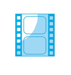 Silhouette filmstrip to studio scene in projection vector