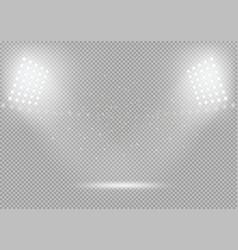spotlights podium scene bright light vector image