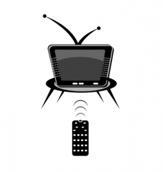 TV with remote vector image vector image