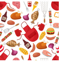 Barbecue and grill for home party or restaurant vector