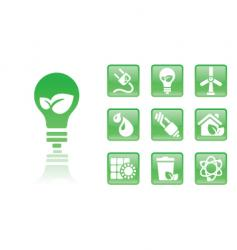 green icons bulb vector image vector image