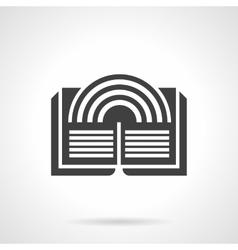 Literary imagination glyph style icon vector