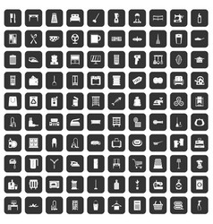 100 housework icons set black vector