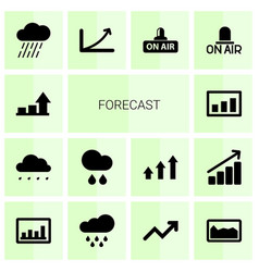 14 forecast icons vector image