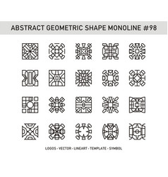 Abstract geometric shape monoline 98 vector