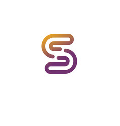 Abstract letter s logo vector