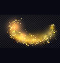 abstract shiny confetti glittering wave light vector image