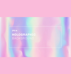 abstract smooth wave and holographic background vector image