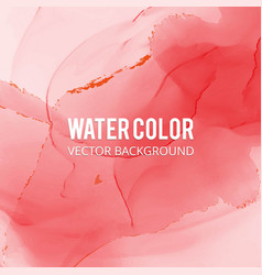 abstract watercolor splash red watercolor drop vector image