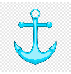 Anchor icon in cartoon style vector