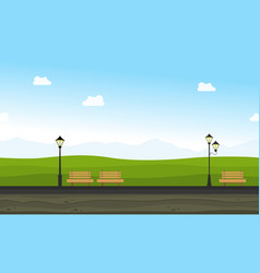 Beauty landscape garden for background game vector