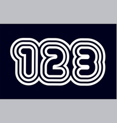 Black and white number 123 logo company icon vector